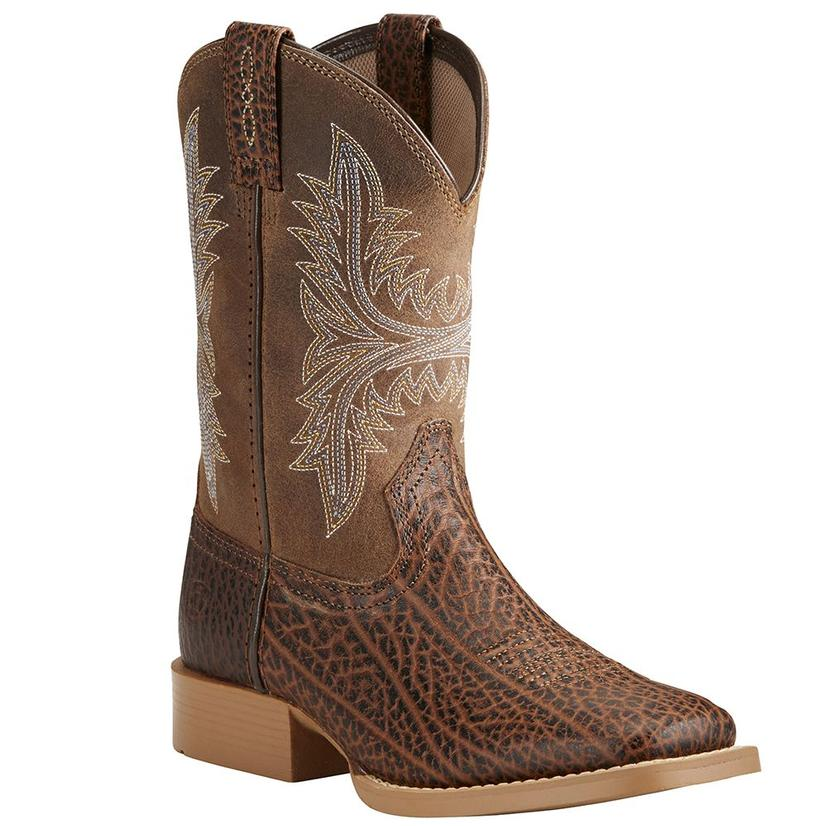 Ariat Kids Cowhand Adobe Tan Rustic Sand Boot