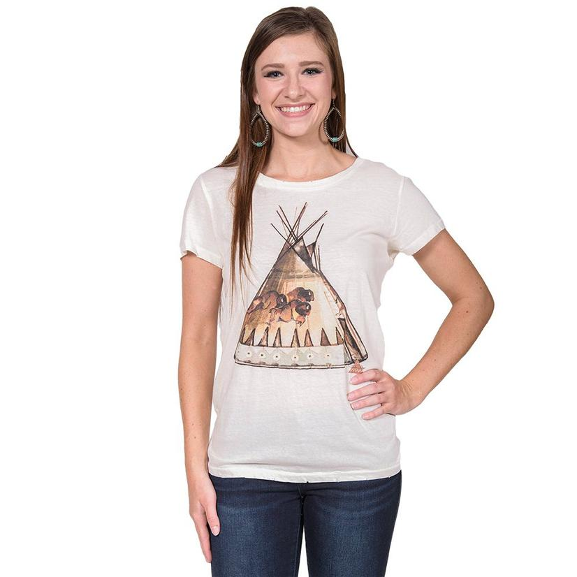 Teepee Tee in Cream by Tasha Polizzi