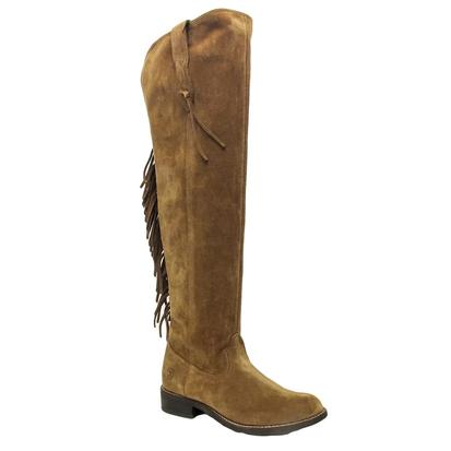 Ariat Womens Farrah Fringe Dirty Tan Suede Tall Boots