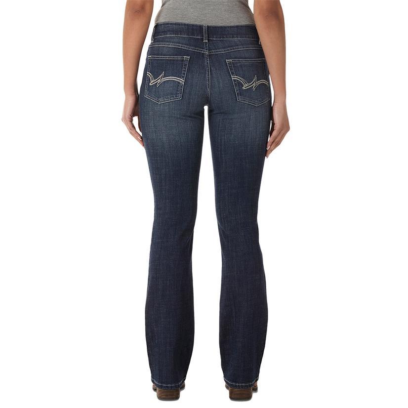Wrangler Womens Bootcut Midrise Medium Wash Jeans