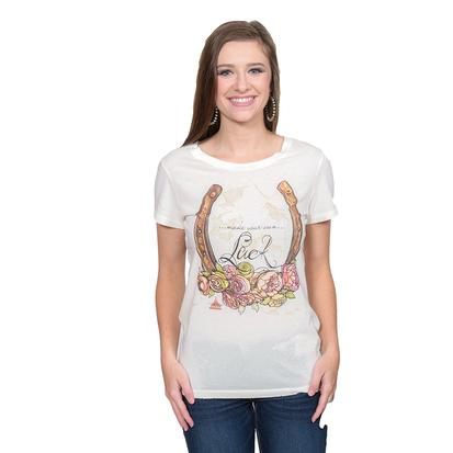 Tasha Polizzi Womens Lucky Lady Cream Tee