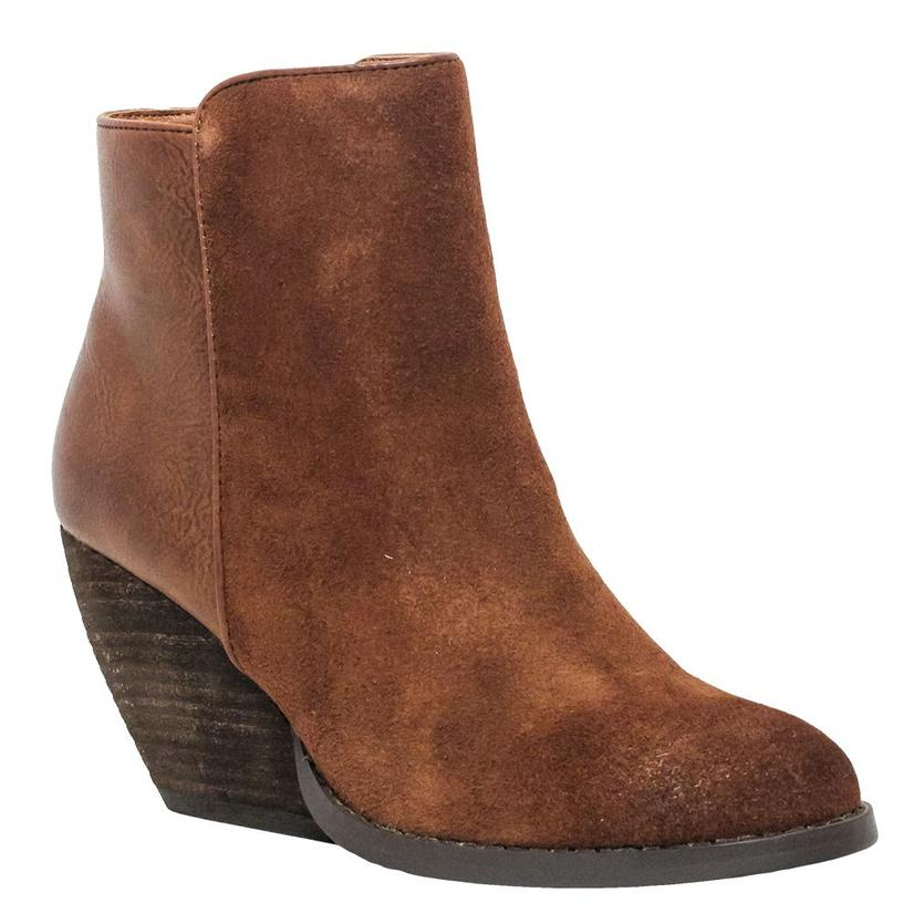 Very Volatile Indie Brown Wedge Shortie Women's Boot