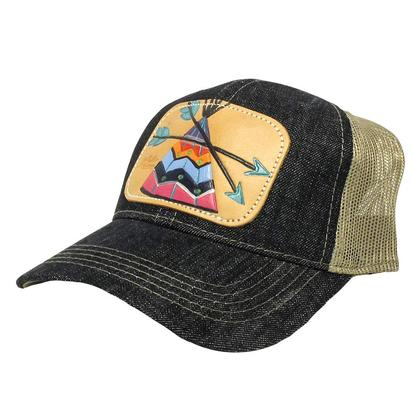 Mirand McIntire Teepee Leather Patch Cap
