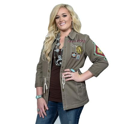 Double D Ranch Womens Chief Five Thunder Field Jacket