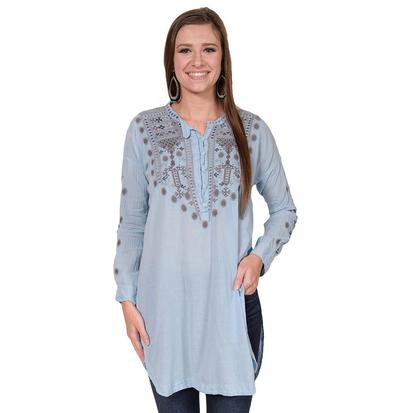 Biya Womens Gloriana Corolina Blue Tunic