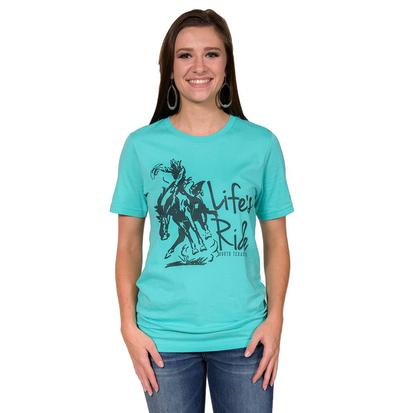 STT Womens Life's Ride Turquoise Shirt