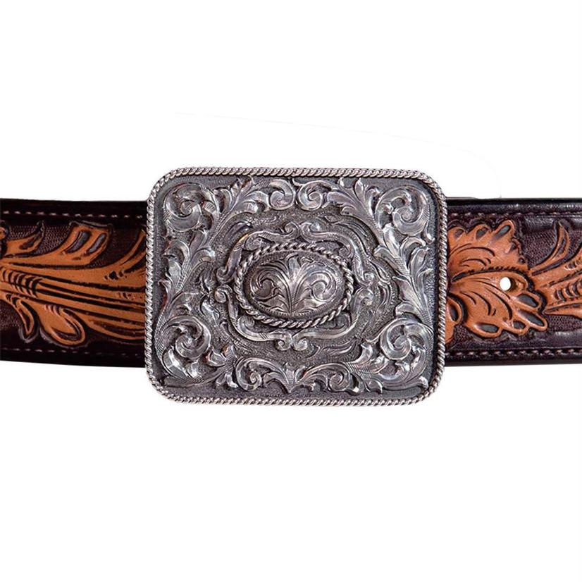 Clint Orms Crane Sterling Silver Scrollwork Buckle