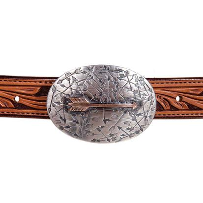 Clint Orms Hunt Sterling Silver and Copper Arrow Buckle