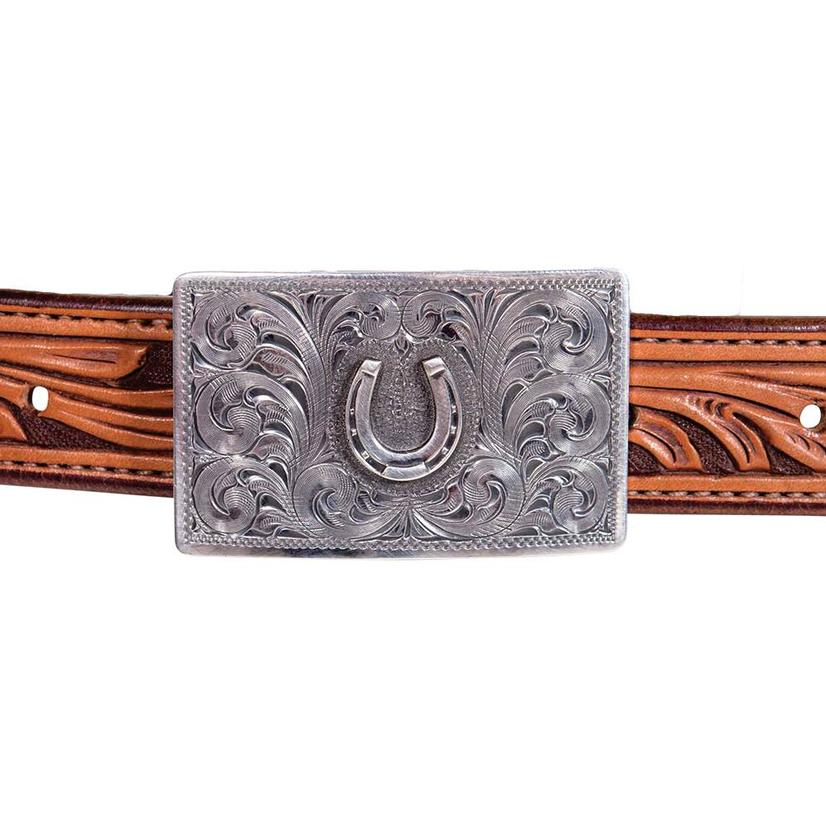 Clint Orms Rectangular Sterling Silver Horseshoe Buckle