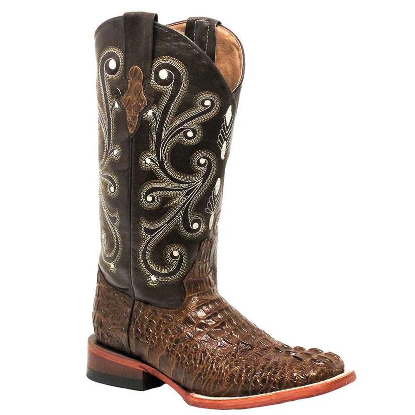 Ferrini Womens Sport Rust Gator Print Boots