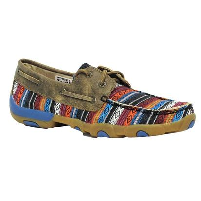 Twisted X Womens Serape Boat Shoe