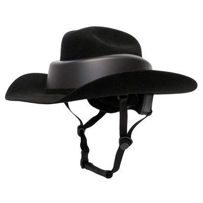 Ridesafe by Resistol Black Felt Hat Helmet