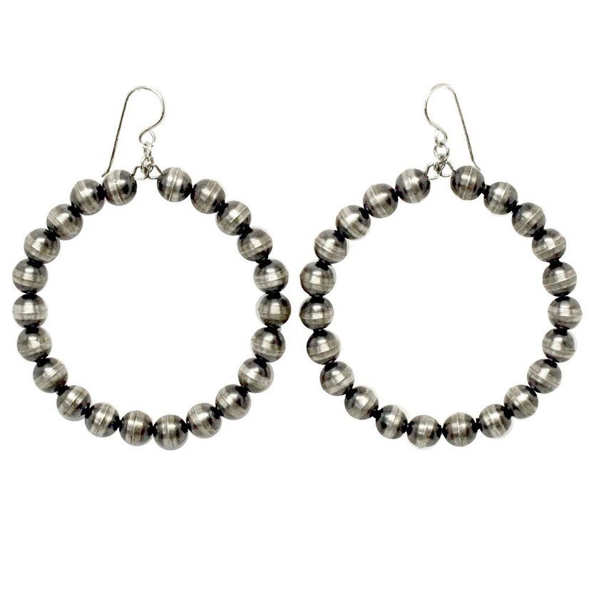 Navajo Pearl Hoop Earrings