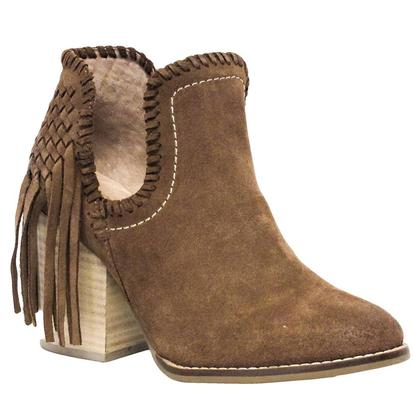 Ariat Womens Unbridled Lily Whiskey Suede Fringe Boot