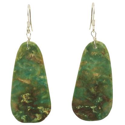 Native American Turquoise Slab Earrings
