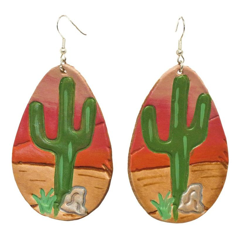 Miranda McIntire Sunset with Cactus Painted Earrings