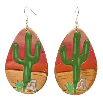 Miranda McIntire Sunset with Cactus Painted Earrings