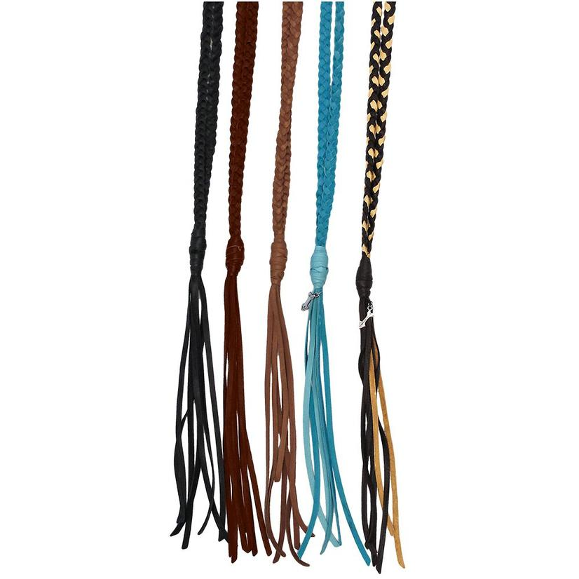 Lucky Lou Braided Leather Necklace With Fringe