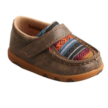 Twisted X Infant Bomber Serape Driving Moccasins