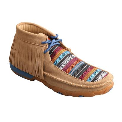 Twisted X Taupe Serape Fringe Youth Driving Moc