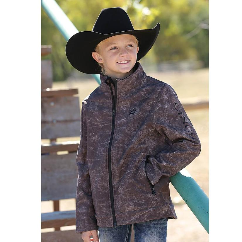 Cinch Boys Brown Bonded Jacket