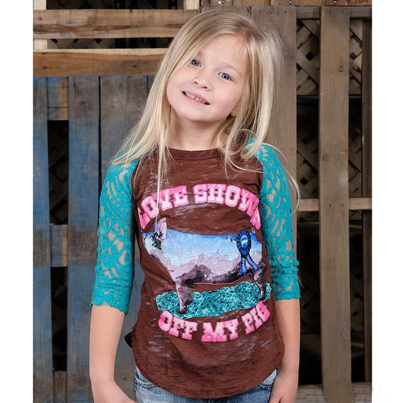Southern Grace Girls Love Showing Off My Pig Tee