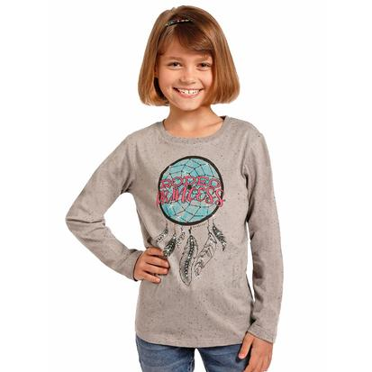 Rock & Roll Cowgirl Girls Rodeo Princess Long Sleeve Shirt