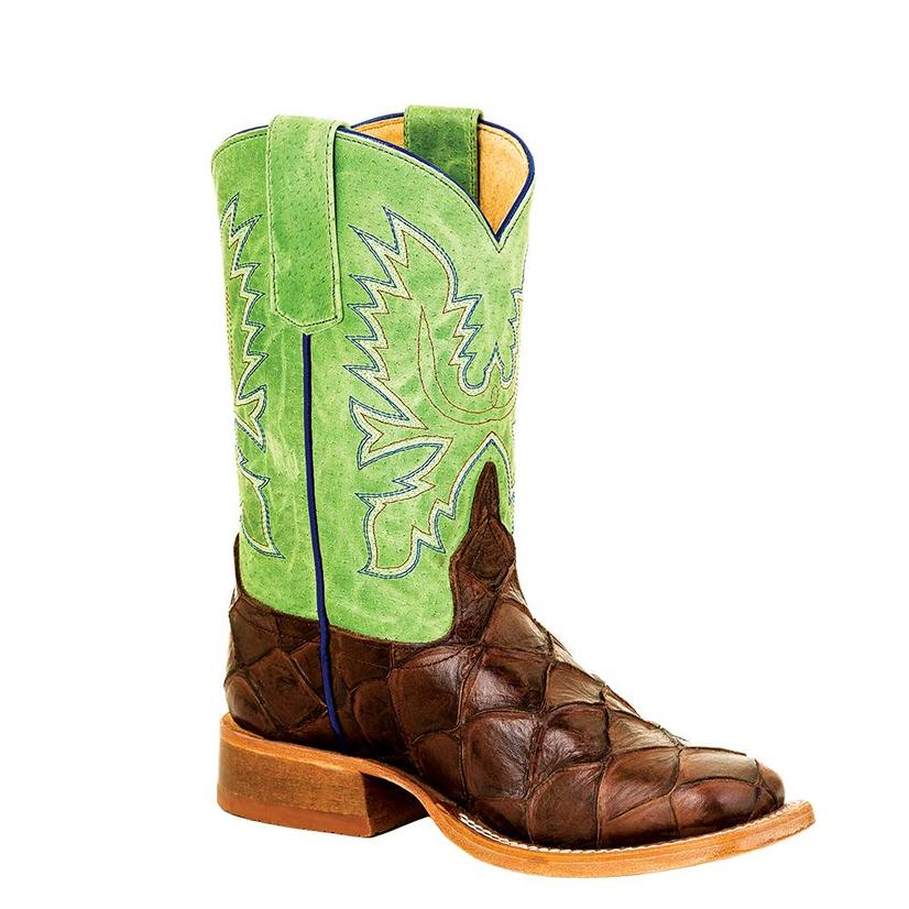 Horse Power Kids Filet Of Fish Lime Green Cowboy Boots