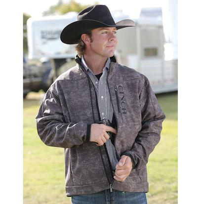 Cinch Mens 3XL and 4XL Brown Print Bonded Concealed Carry Jacket