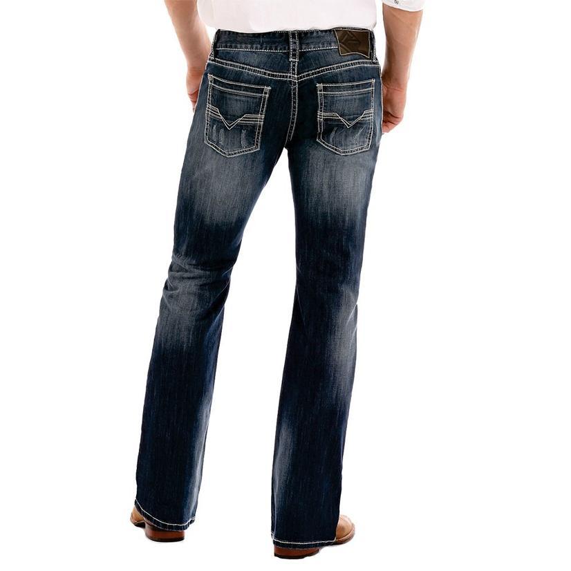 Rock & Roll Cowboy Pistol Straight Leg Medium Wash Jean
