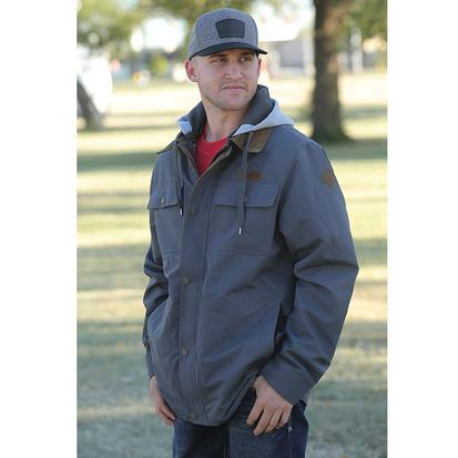 Cinch Mens Canvas Lightweight Jacket with Hoodie