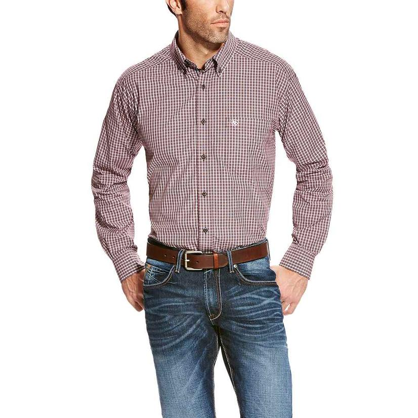 Ariat Mens Abilene Malbec Plaid Shirt