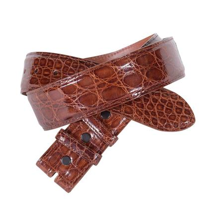 "1 1/2"" Straight Genuine Caiman Belt"