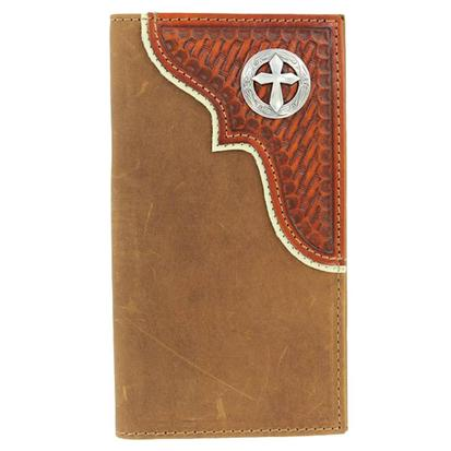 Nocona Mens Cross Concho Wallet