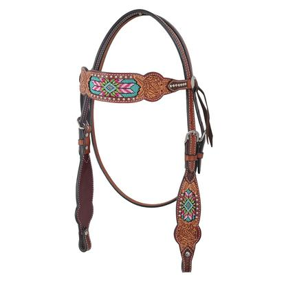 Rafter T Ranch Browband Headstall Beaded Inlay Collection