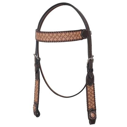Rafter T Ranch Browband Headstall Brown Collection