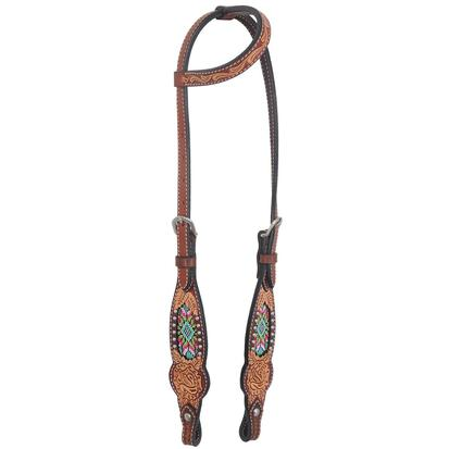 Rafter T Ranch Slide Ear Headstall Beaded Inlay Collection