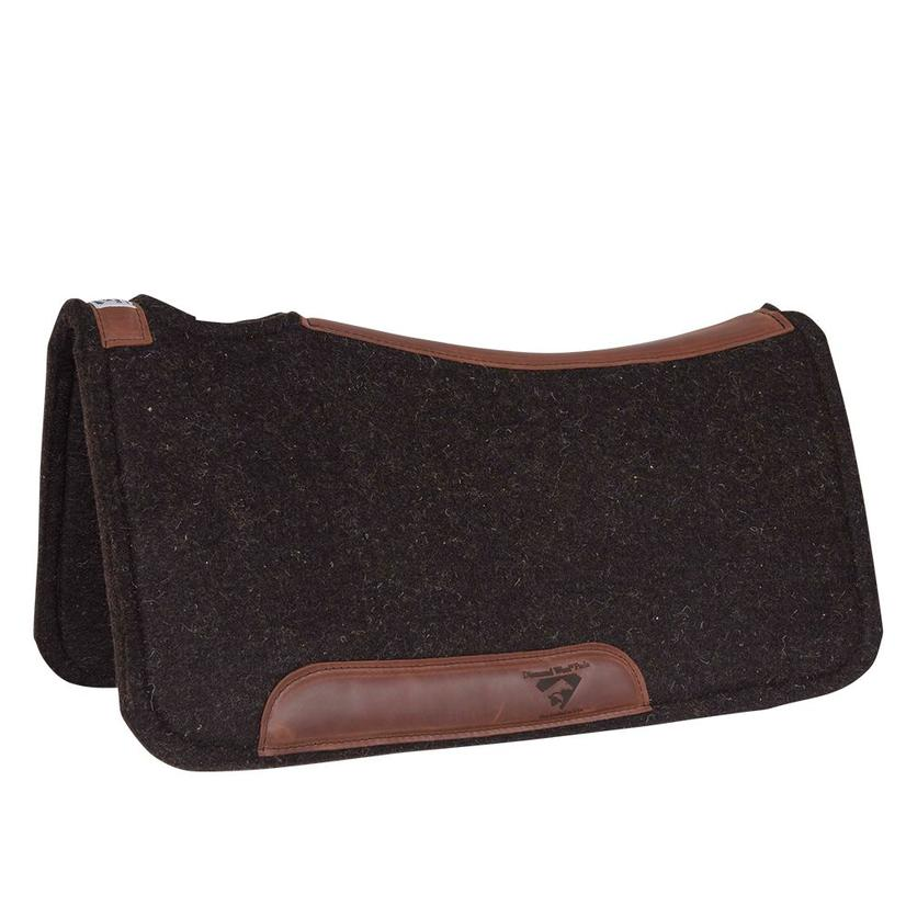Diamond Wool Pad Co. Contoured Wool Felt Saddle Pad 1