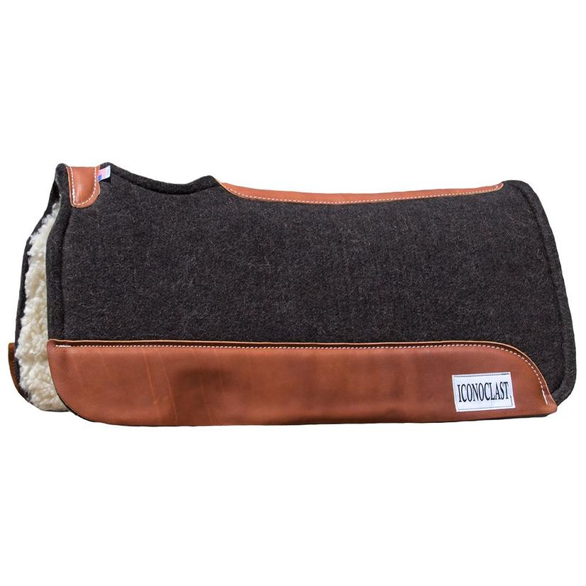 Iconoclast Felt Saddle Pad with Fleece Bottom Black