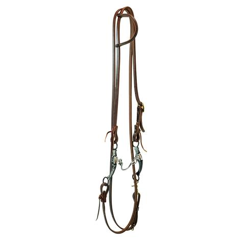 STT Bridle Set w/  Metalab Floral Ported Chain Bit with Roping Reins