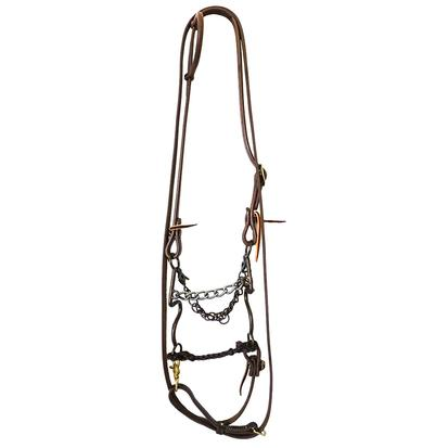 STT Bridle Set w/ RB Antique S Shank Chain Bit with Roping Reins
