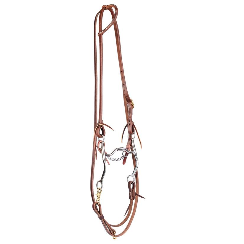 Stt Bridle Set W/Metalab Medium Shank Futurity Bit With Roping Reins