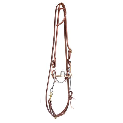 STT Bridle Set w/ Metalab Stainless Steel Correctional Bit with Roping Reins