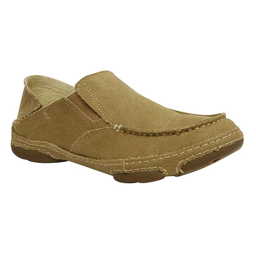 Tony Lama Mens Winter Wheat Canvas Slip On