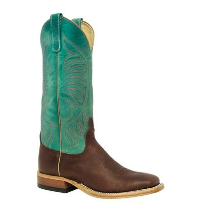 Anderson Bean Womens Grizzly Antique Bark Turquoise Western Boots
