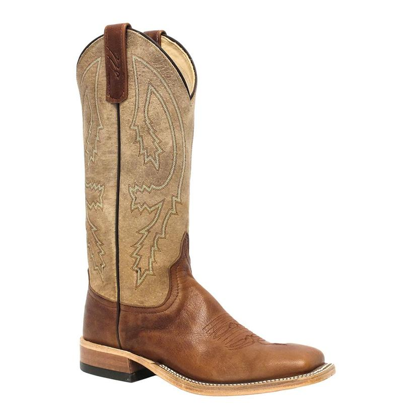 Anderson Bean Womens Tonal Tan Crash Goat Cowgirl Boots