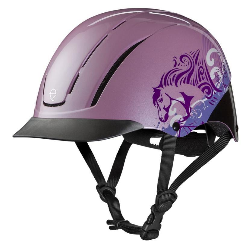 Troxel Spirit Graphic Print Riding Helmet PINK_DREAMSCAPE