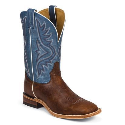 Tony Lama Mens Americana Pecan Bison Square Toe Boots