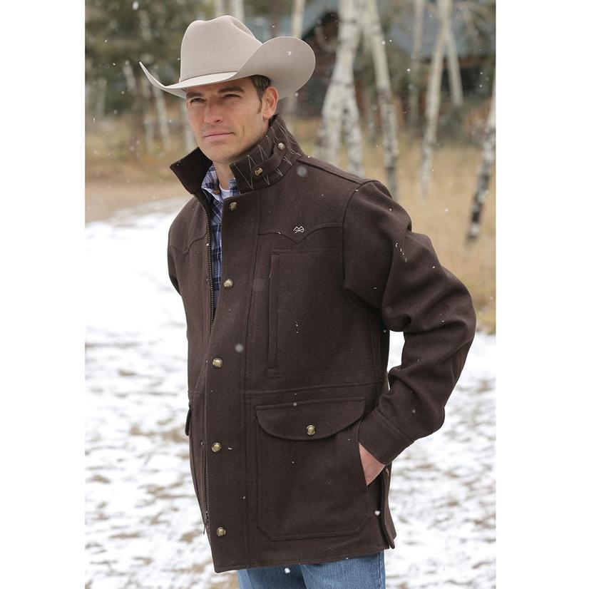 Ranch Men's Melton Wool Coat