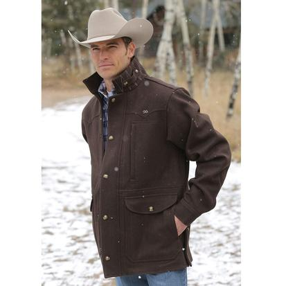 Miller Ranch Mens Melton Wool Coat